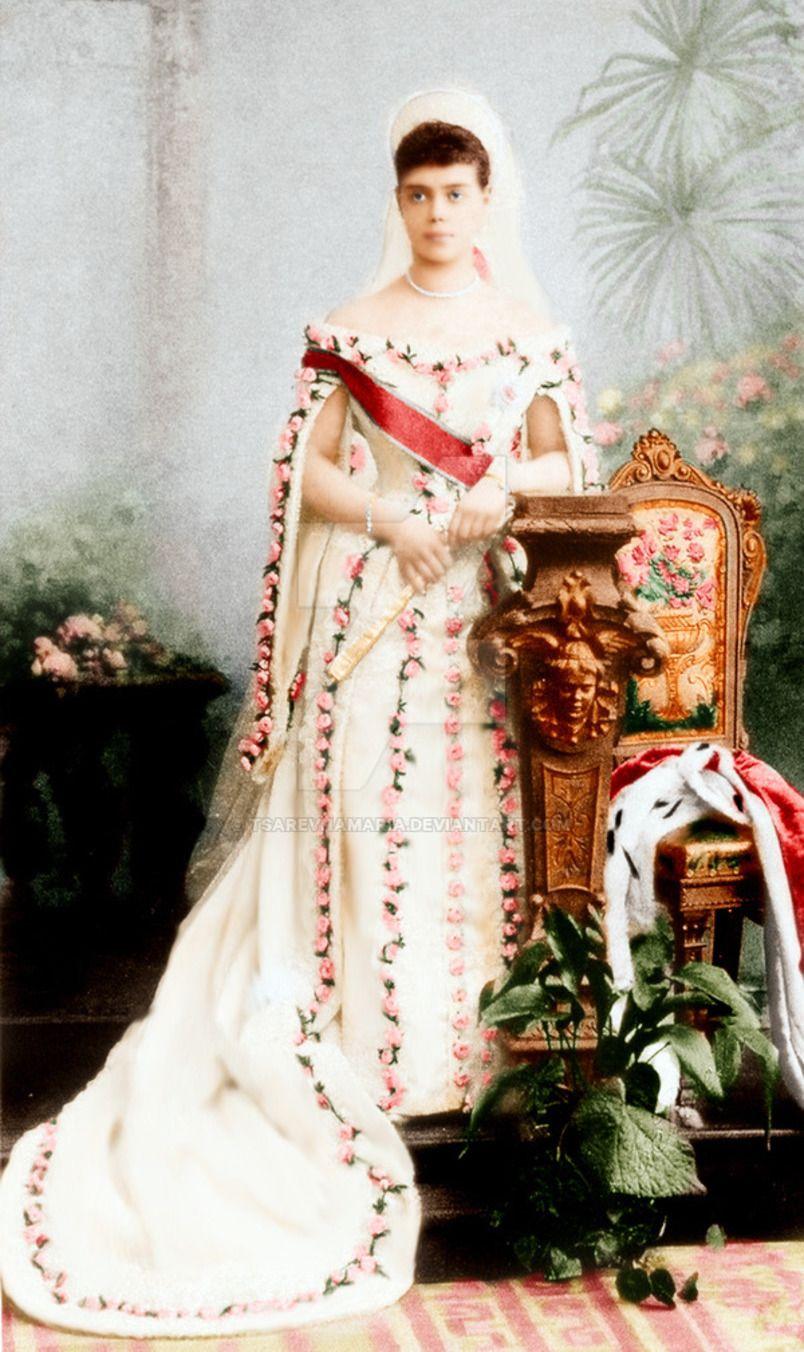 свадебное фото александры федоровны романовой это