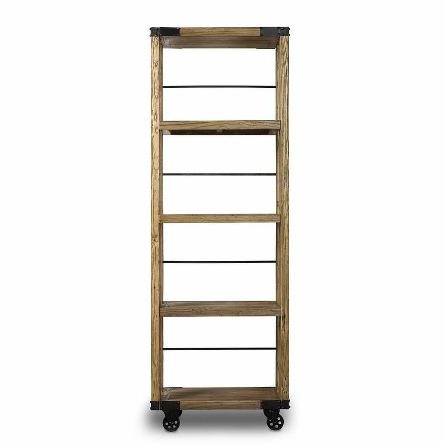 Industrial Bookcase On Wheels Industrial Bookcases Bookcase Reclaimed Wood Bookcase
