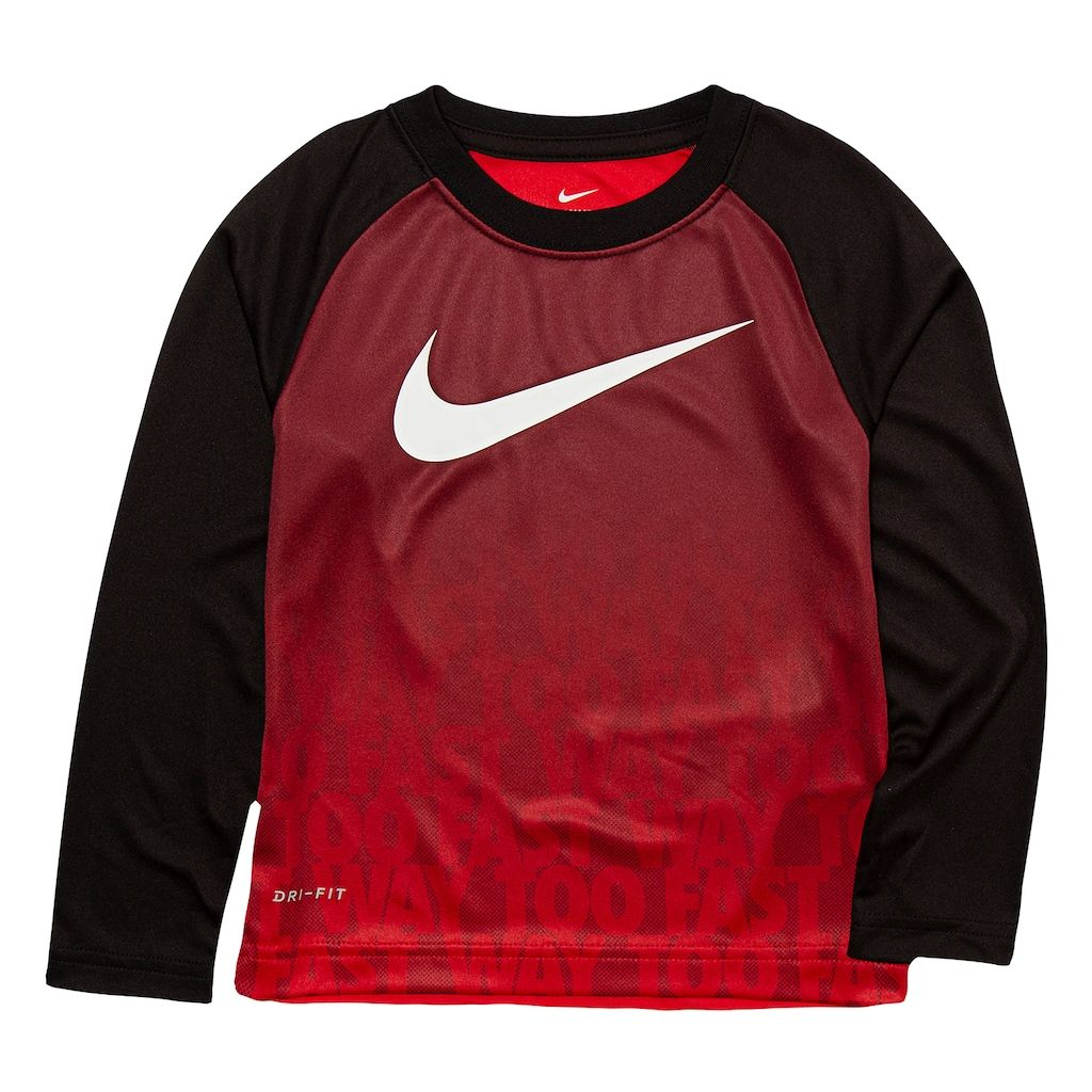 dced07b9e Toddler Boy Nike Logo Ombre Dri-FIT Raglan Tee | Products