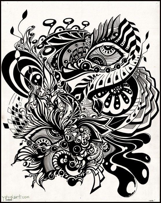 Black ink y0y0 art josipa majstorovic art portfolio