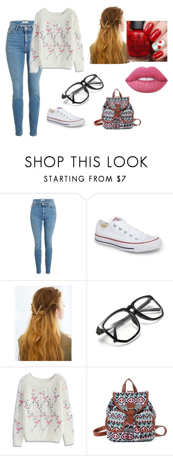 """""""Sem título #112"""" by barbie-cristini on Polyvore featuring Converse, WithChic, Chicwish e Lime Crime"""