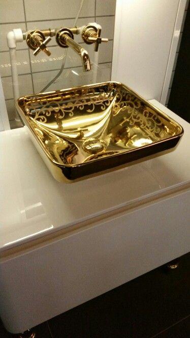 Superior Vitra Water Jewels Gold Washbasin Mattheo Thun