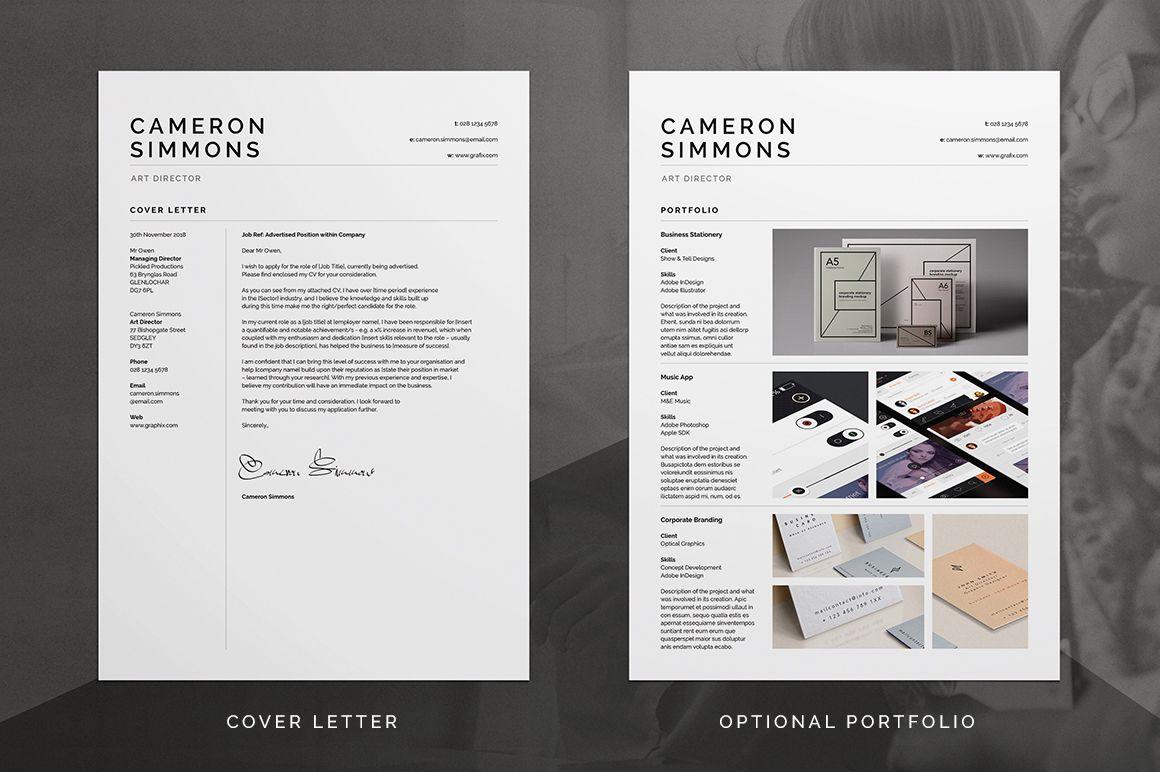 Pro Resume Cv Cameron Resume Design Free Resume Design