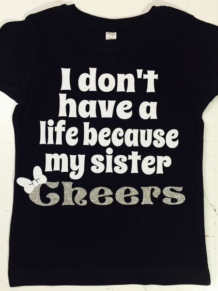 73804eb2a6 Pin by Bows 2 Toes on Cheerleading   Cheer mom shirts, Cheer sister gifts, Cheer  shirts