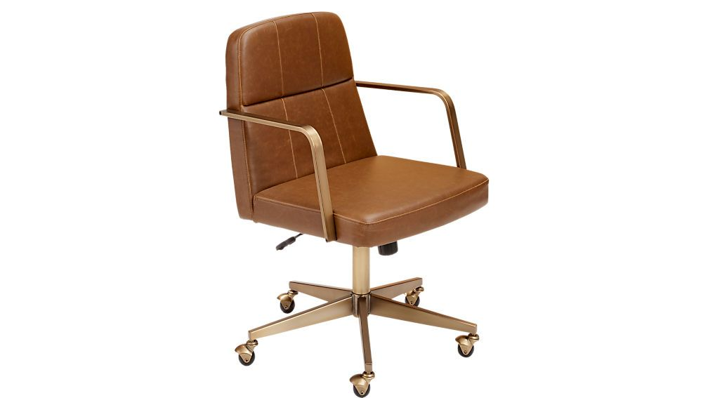 Super Draper Faux Leather Office Chair In 2019 Seating Pabps2019 Chair Design Images Pabps2019Com