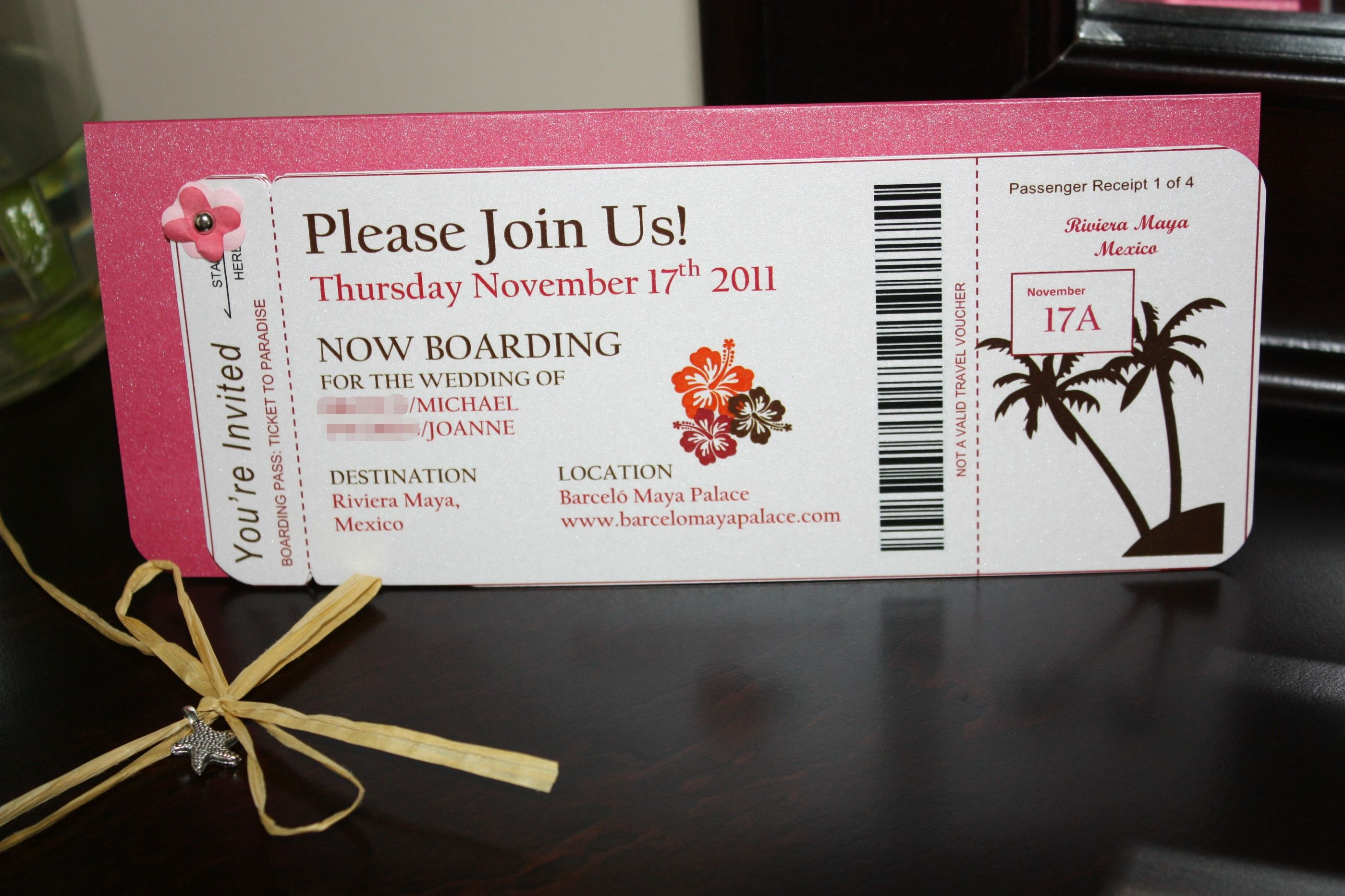 IMG_2058_1.jpg | Wedding card | Pinterest | Boarding pass invitation ...