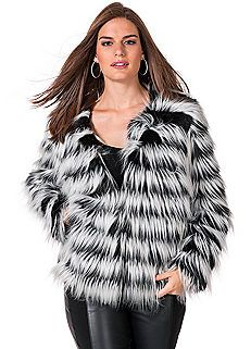swing style a-line coat faux fur plus size - Google Search