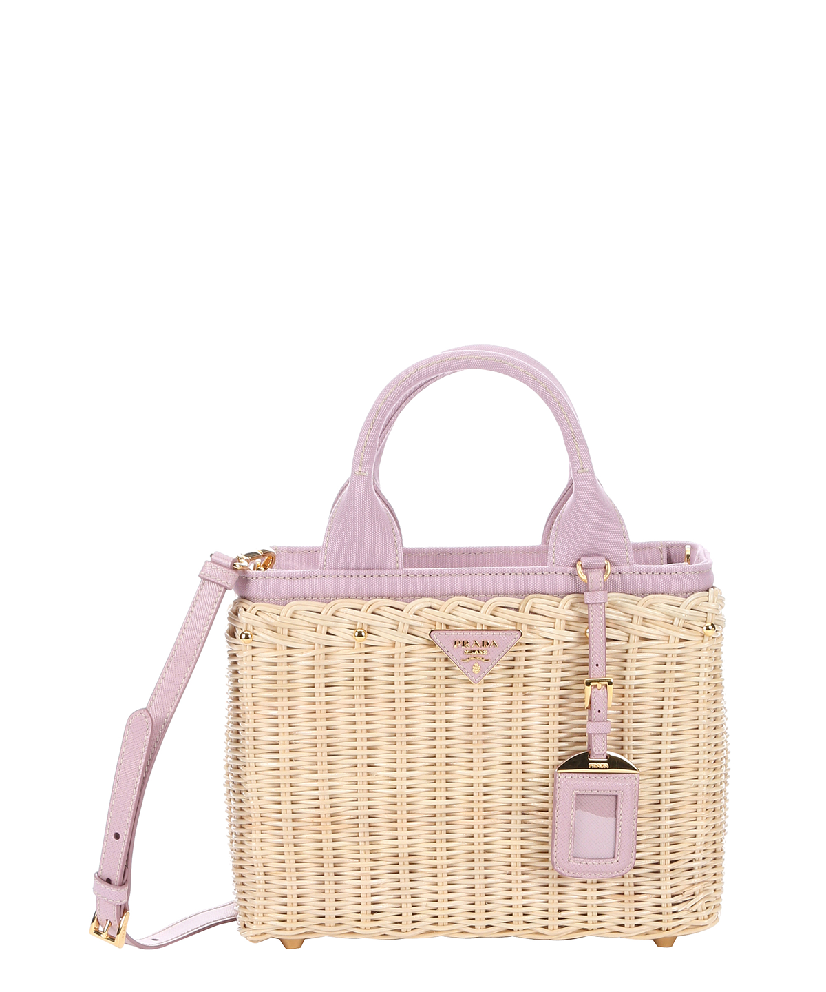 f3ad2fef5558 PRADA Natural Wicker And Rose Canvas Convertible Tote'. #prada #bags #canvas  #tote #leather #lining #shoulder bags #hand bags #