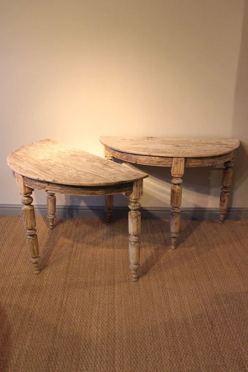 A Very Useful Pair Of French Louis Philippe Demi Lune Console  # Muebles Macabane