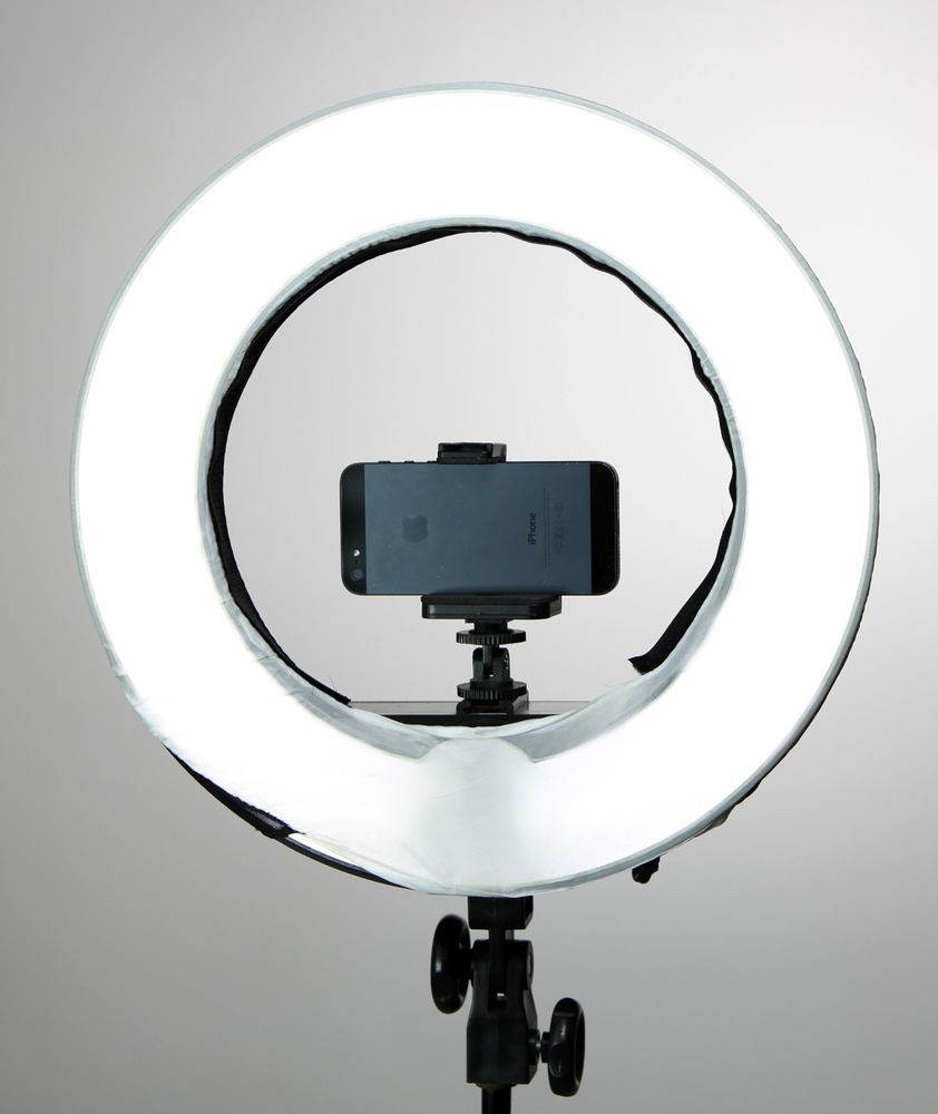 """Diva Ring Light 12"""" W/ Dimmer + Photo Stand+Mirror By"""