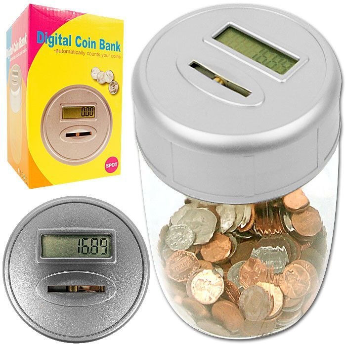 Trademark Commerce 82-19815 Ultimate Automatic Digital Coin Counting Bank