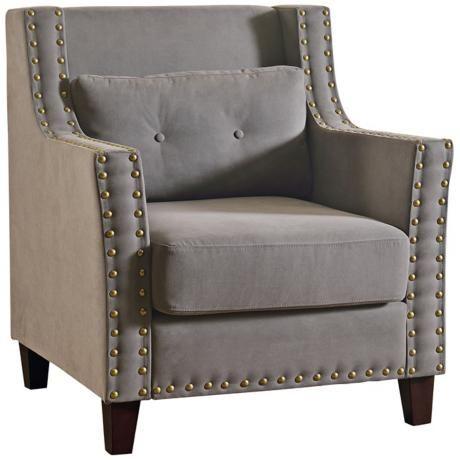 Ciara Gray Linen Armchair -