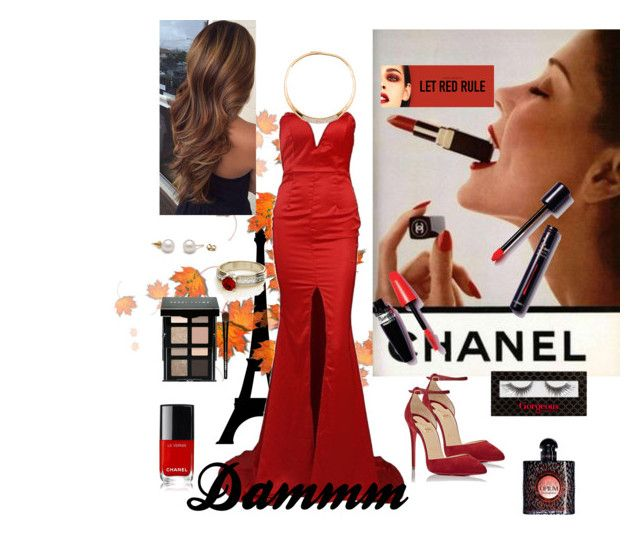 """""""Pretttty woman💋"""" by eliyanakubelis on Polyvore featuring beauty, Chanel, Christian Louboutin, Bobbi Brown Cosmetics and Yves Saint Laurent"""