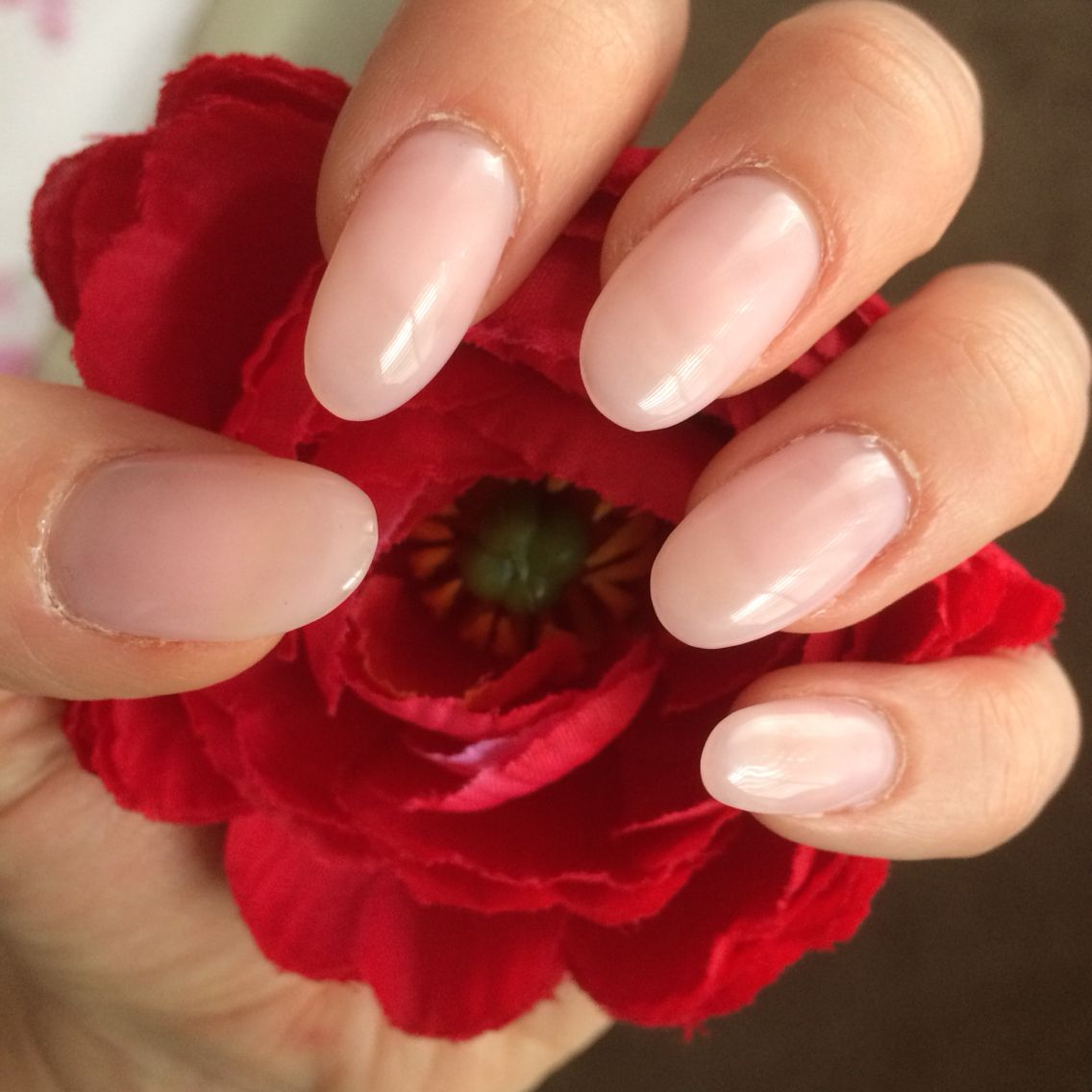 Natural, neutral, nude, light pink, round, oval, gel, shellac ...