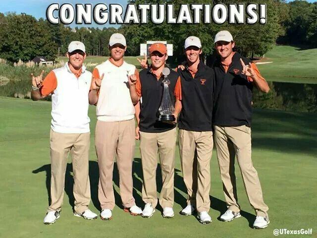 TEXAS Men's Golf Team wins the U.S. Collegiate Championship! by One Stroke! HOOK'M \_/ HORNS!!!!!