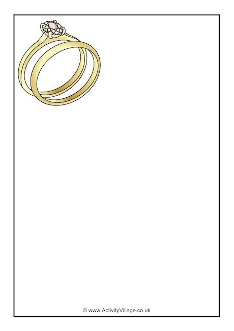 Wedding Rings Writing Paper Wedding Coloring Pages Writing