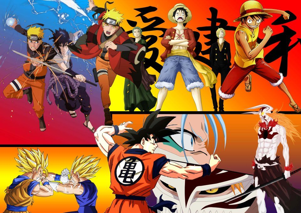 Naruto Bleach One Piece Dragonball Z Wallpaper By Heroakemi With