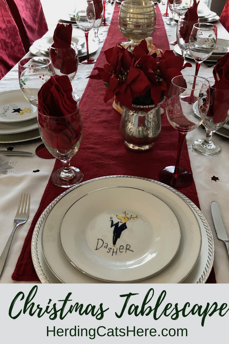 Christmas Decorating Ideas Christmas Tableware Reindeer Dishes Christmas Tablescapes