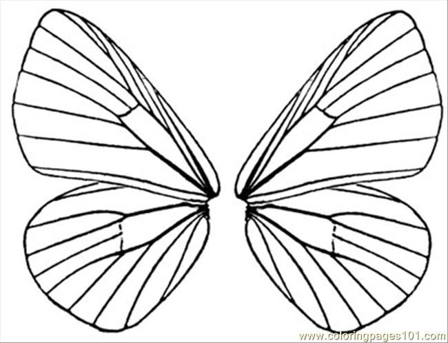 Fairy Wings To Color Free Printable Coloring Page Butterfly Wings  Insects Butterfly