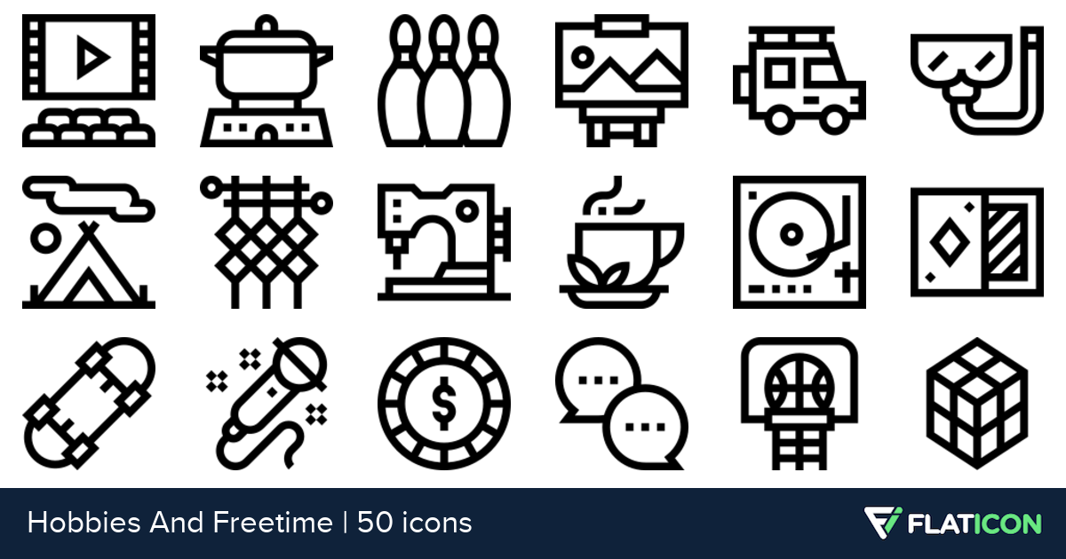 50 premium vector icons of Hobbies And Freetime designed