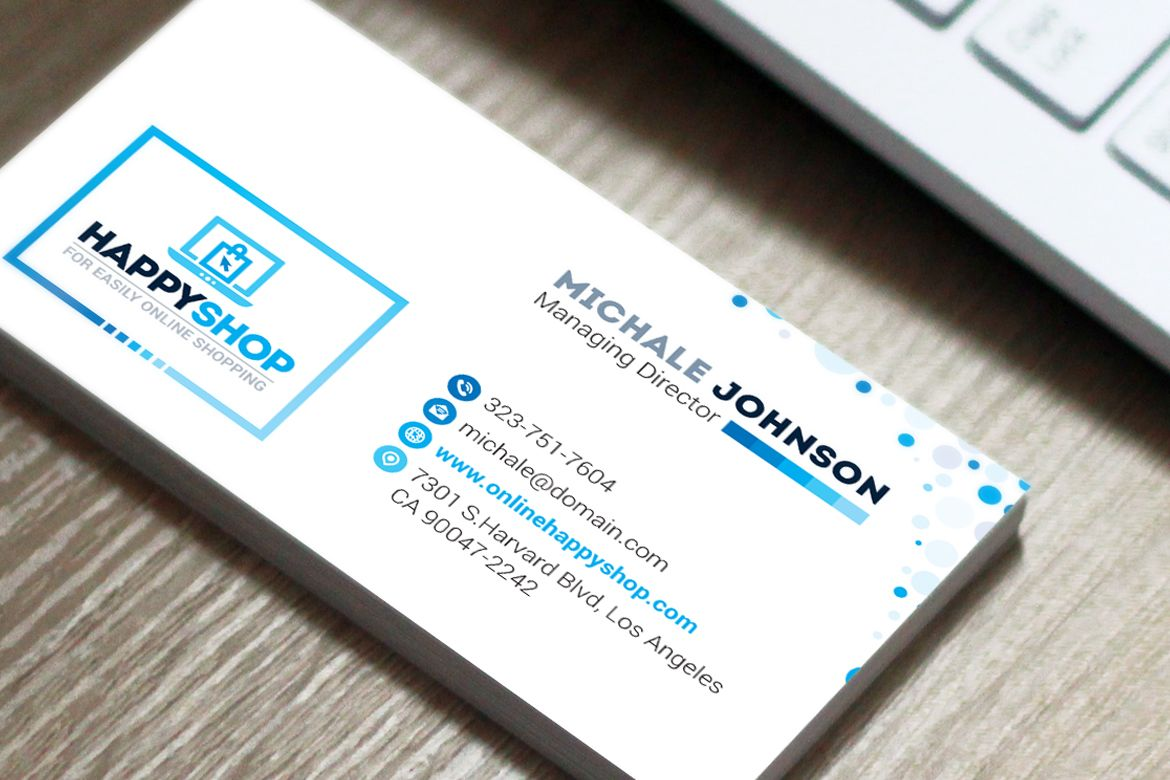 Business Card For E Commerce Or Online Shop Shopping Mall Business Card Business Card Template Word Visiting Card Templates Business Card Design Software
