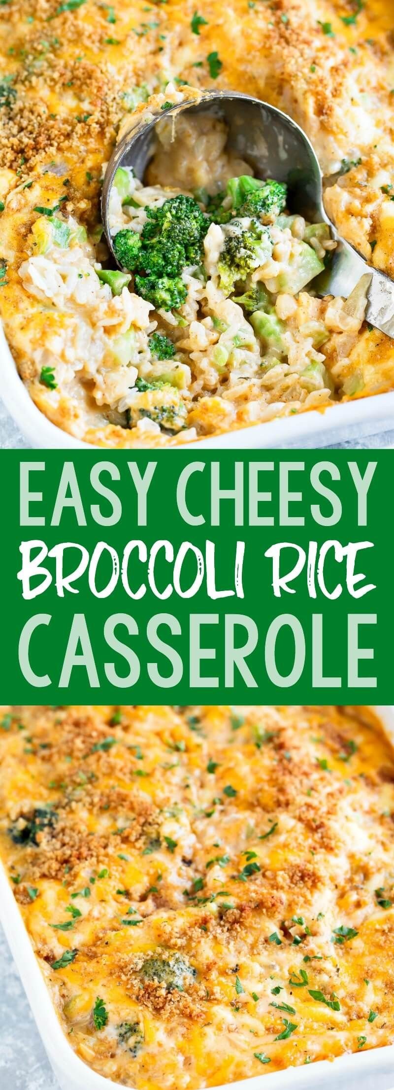 Photo of Cheesy Broccoli Rice Casserole – We Love this Vegetarian Rec…