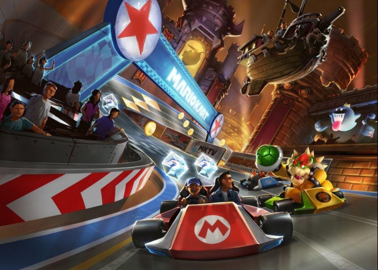 Maar de echt showsteler is voor ons toch echt dé Mario Kart-racer