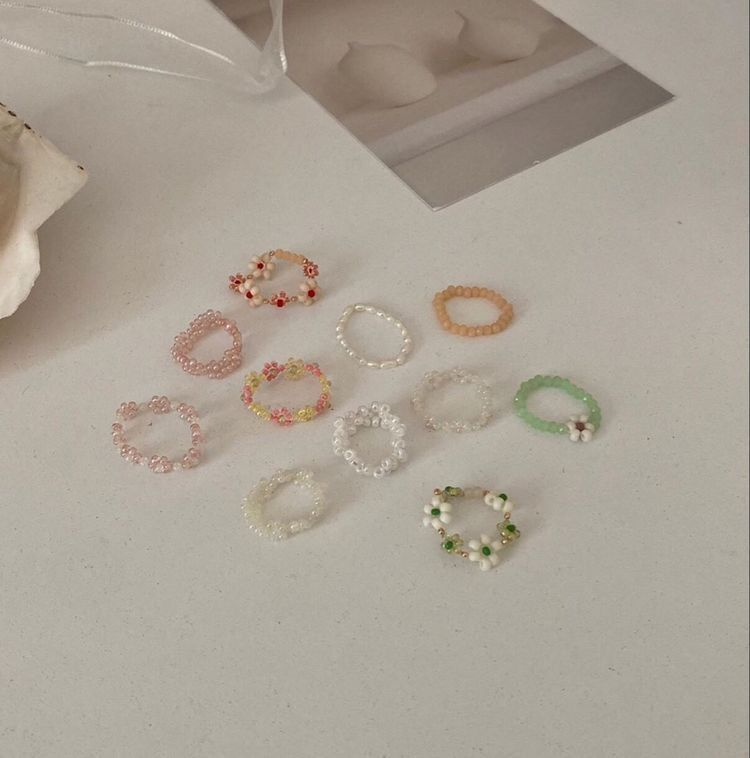 Tap On A Photo For Rings In 2021 Indie Jewelry Bead Jewellery Girly Jewelry
