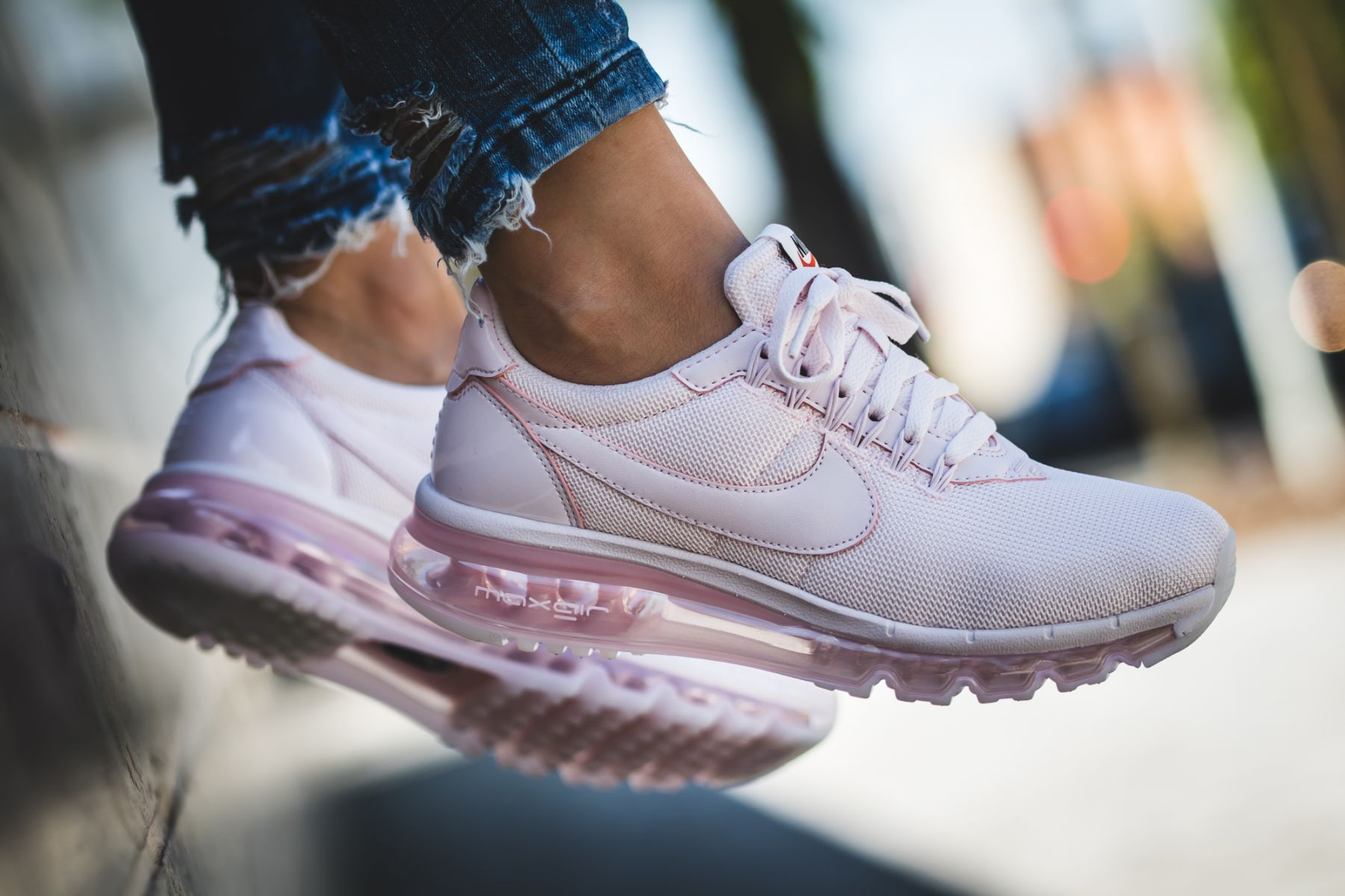 eda2fb827e NIKE WMNS AIR MAX LD ZERO PEARL PINK TRAINING SHOES 911180 600 ...