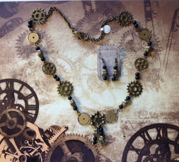 Steampunk Gear Necklace by TheSteampunkLady on Etsy
