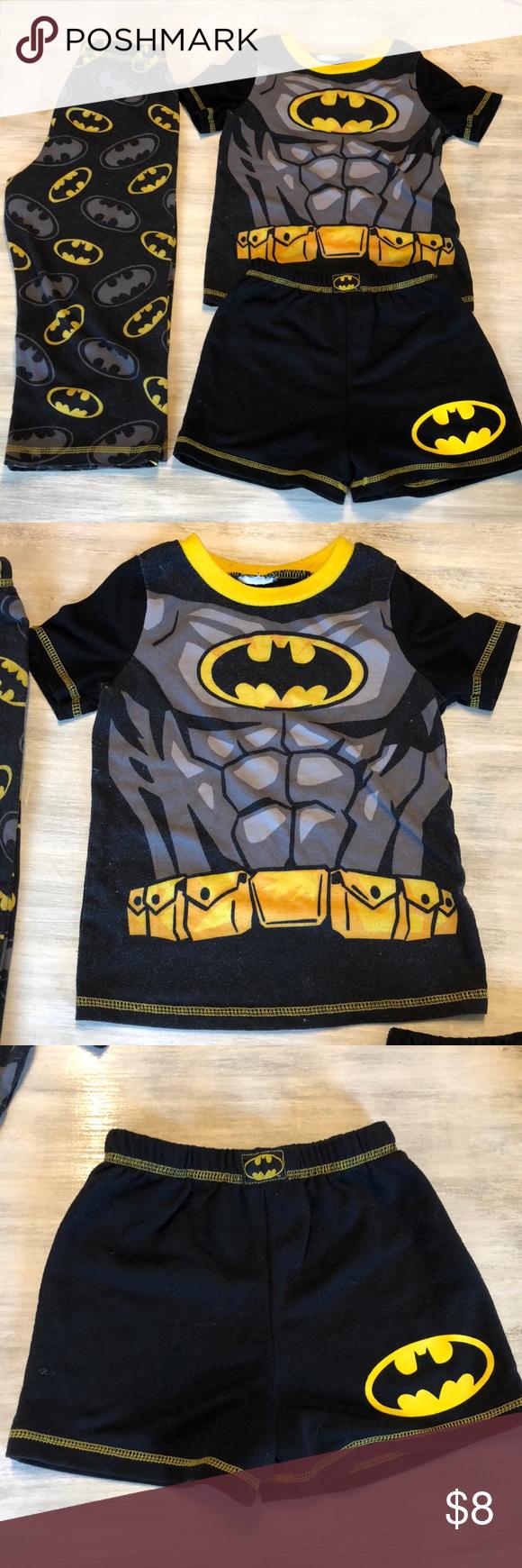 🐛Boys 4T Batman Superhero Pajamas 3 Piece set 🦇 3 Piece Boys Batman  Pajamas Set da364afe1