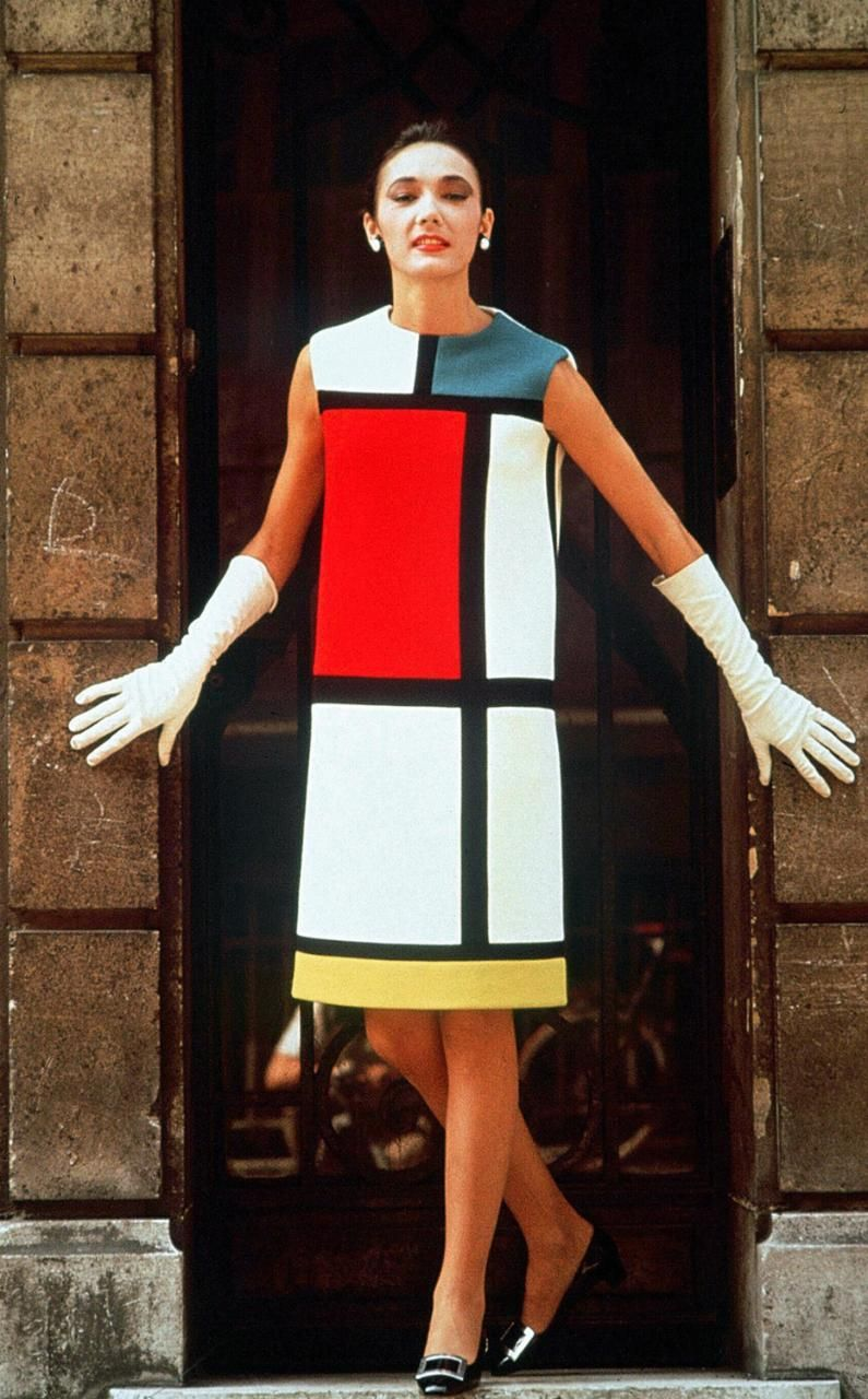 Ives Saint Lau Dress From The 1965 Mondrian Collection