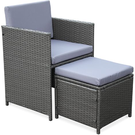 10 seater grey rattan garden table and chair set with stacking table