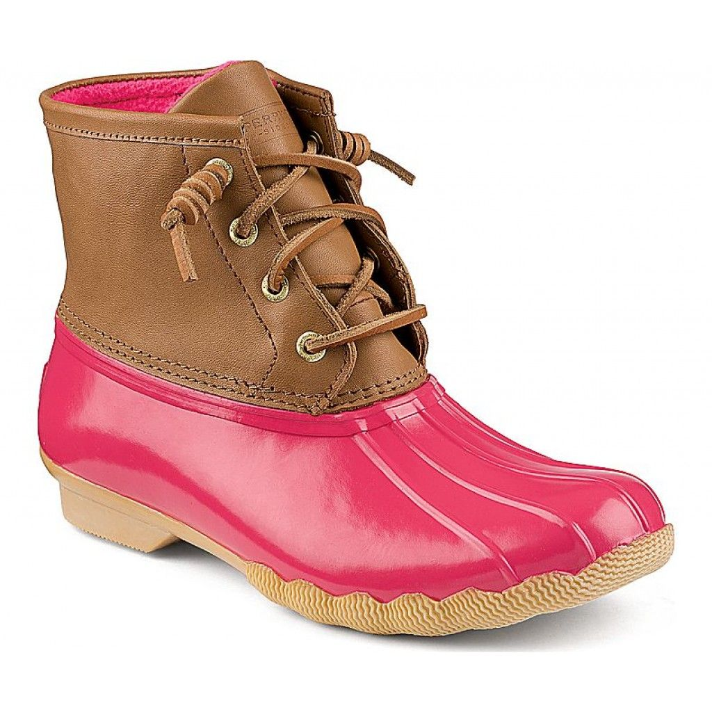 9afd96656b5fa Saltwater Duck Boot in Cognac and Pink by Sperry Top-Sider Alternatively  there are these