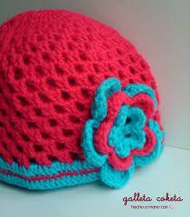 c650ce422 como hacer gorros tejidos para niñas - Buscar con Google