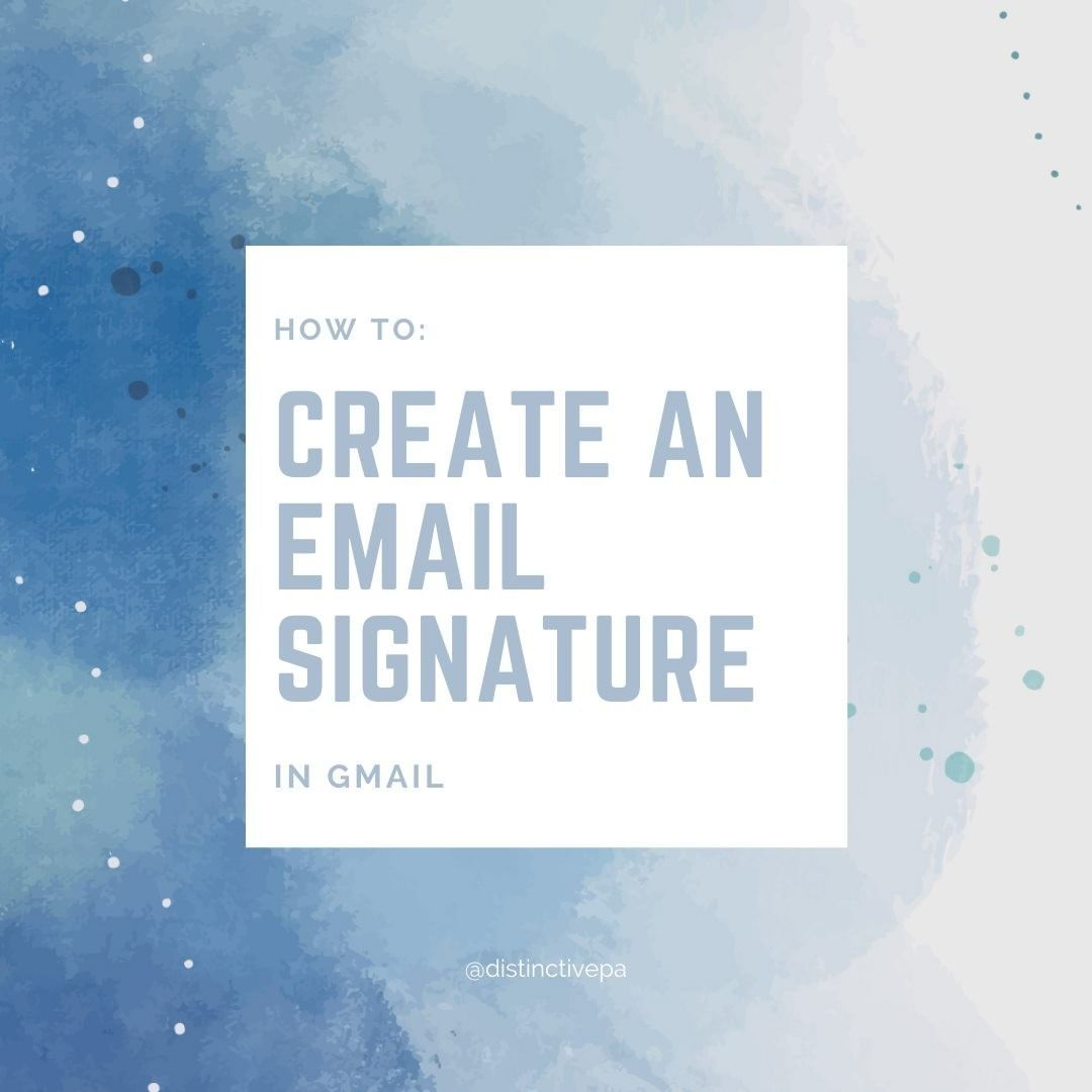 26 Likes 6 Comments Virtual Pa East Lothian Distinctivepa On Instagram How To Create A Gmail Signature An Email Sign In 2020 Email Signatures Instagram Text