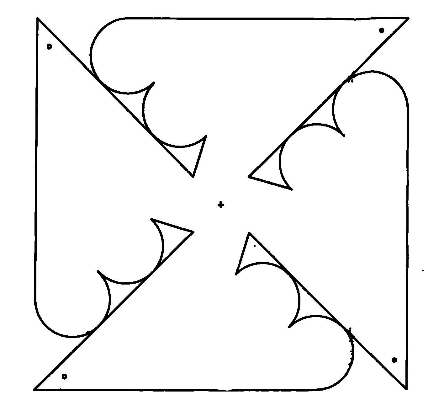 pinwheel | Plantillas (Moldes) | Pinterest | Las mandalas, Las horas ...