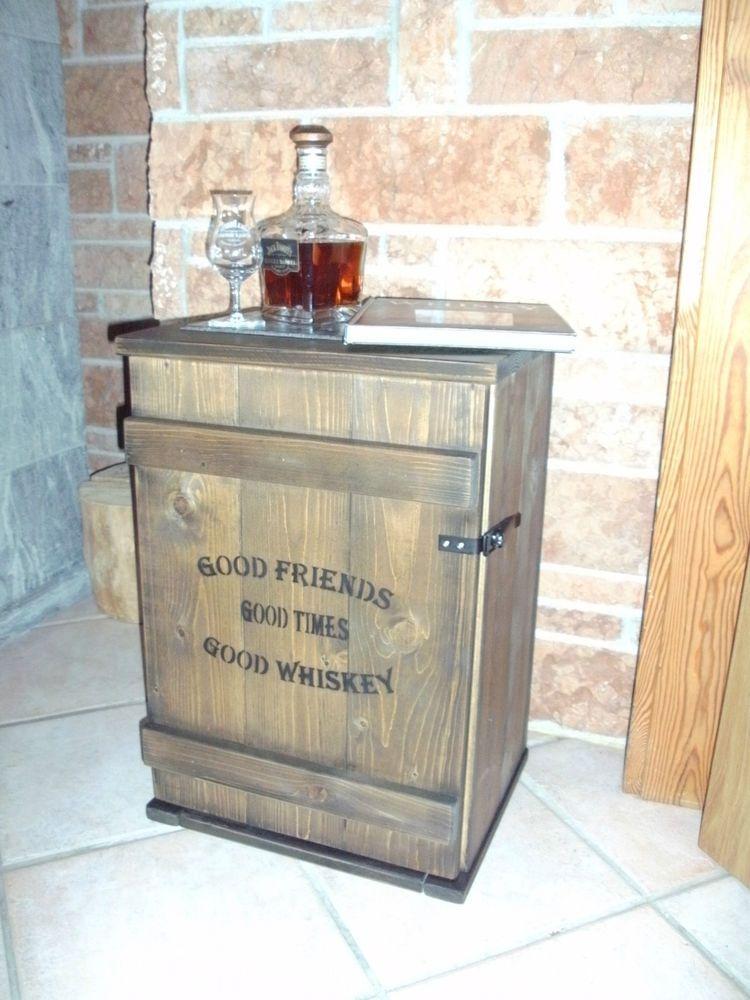shabby frachtkiste mini bar vintage couchtisch whiskey tasting, Wohnzimmer