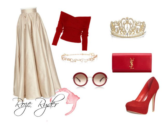 """Shes a princess"" by roze-ryder on Polyvore featuring Jenny Packham, Diane Kordas and Yves Saint Laurent"