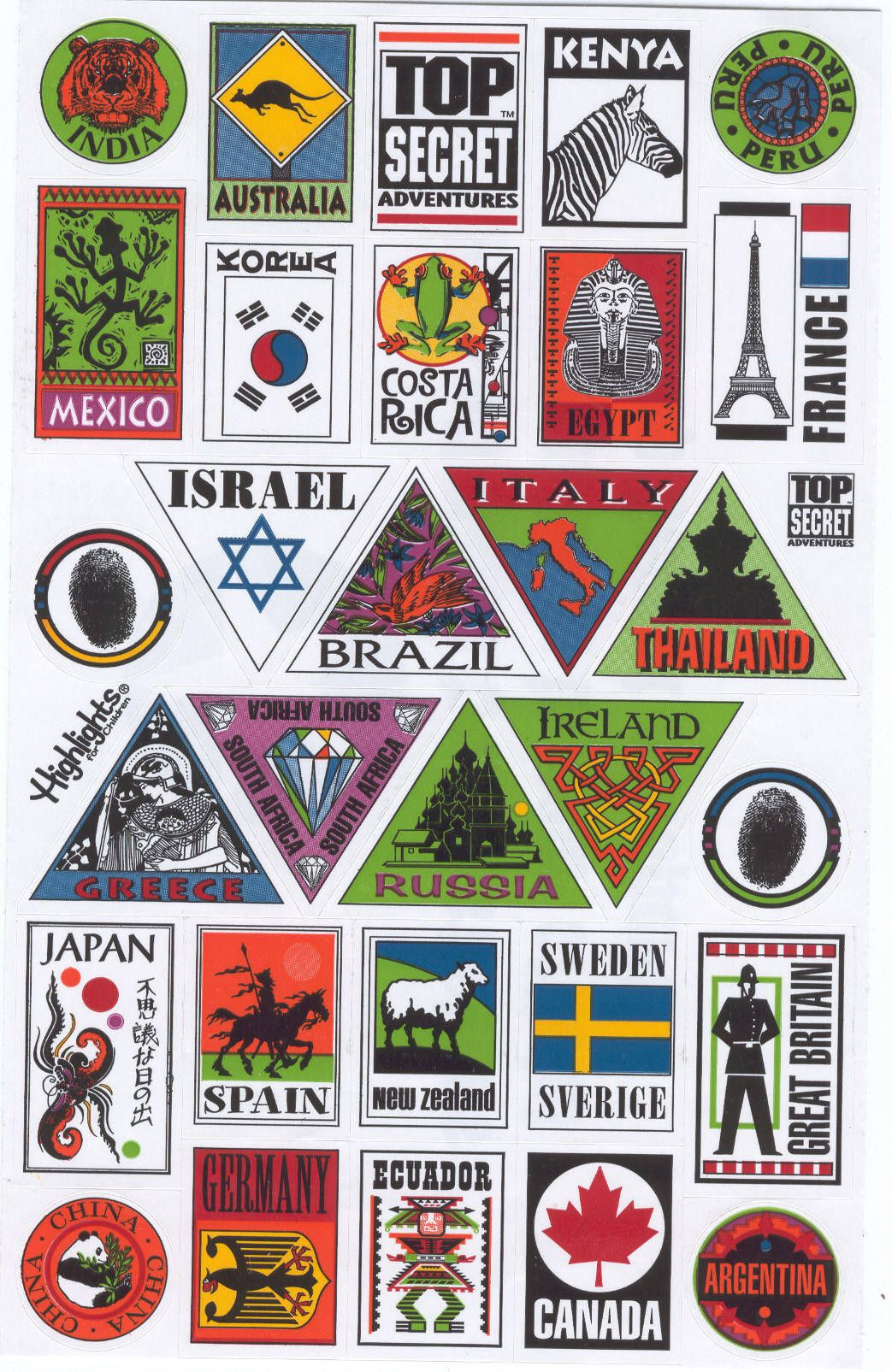 Travel stickers | Design inspiration, Artist trading cards ...