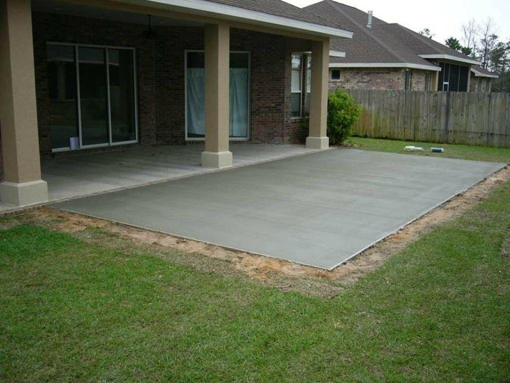 Simple Concrete Patio Design Ideas Mycoffeepot Org