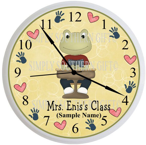 Personalized Teacher Exclusive School Frog Collection Classroom Wall ...