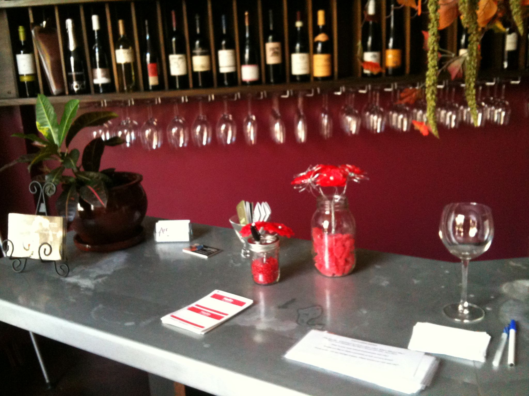 Check In Desk And Raffle Sign Up Speed Dating At Pause Wine Bar Sf