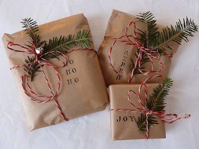 Exceptionnel Idées paquets cadeaux : 3 idées avec du papier kraft | Le blog  ZY75