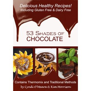 53 Shades of Chocolate Cookbook - Attention chocolate lovers!! If you truly respect your health but enjoy a little decadent, sensual, sweet indulgence every now and again, then this is the ultimate chocolate recipe book for YOU! An e-book focusing on the wonders of raw cacao this book has a mixture of smoothies, slices, biscuits, sweet treats, cakes, desserts, dairy-free, gluten-free and raw chocolate treats.