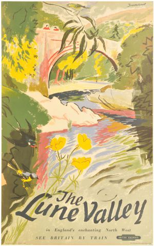 BR(M) double royal poster, THE LUNE VALLEY, by Brookshaw British Railways