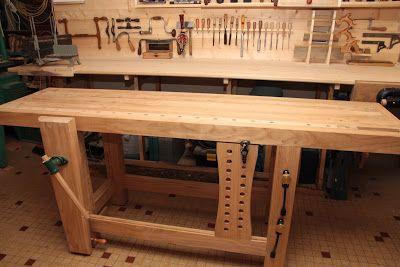 woodwork shopbreizh mon tabli roubo fabriquer un tabli en bois carpenter 39 s work benches. Black Bedroom Furniture Sets. Home Design Ideas
