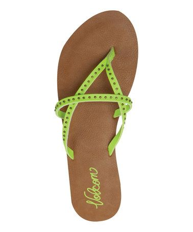 Lime All Day Long Sandal #zulily #zulilyfinds