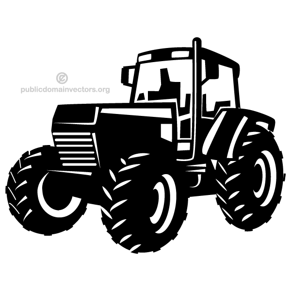 tractor vector image free vectors pinterest tractor cricut and silhouettes. Black Bedroom Furniture Sets. Home Design Ideas