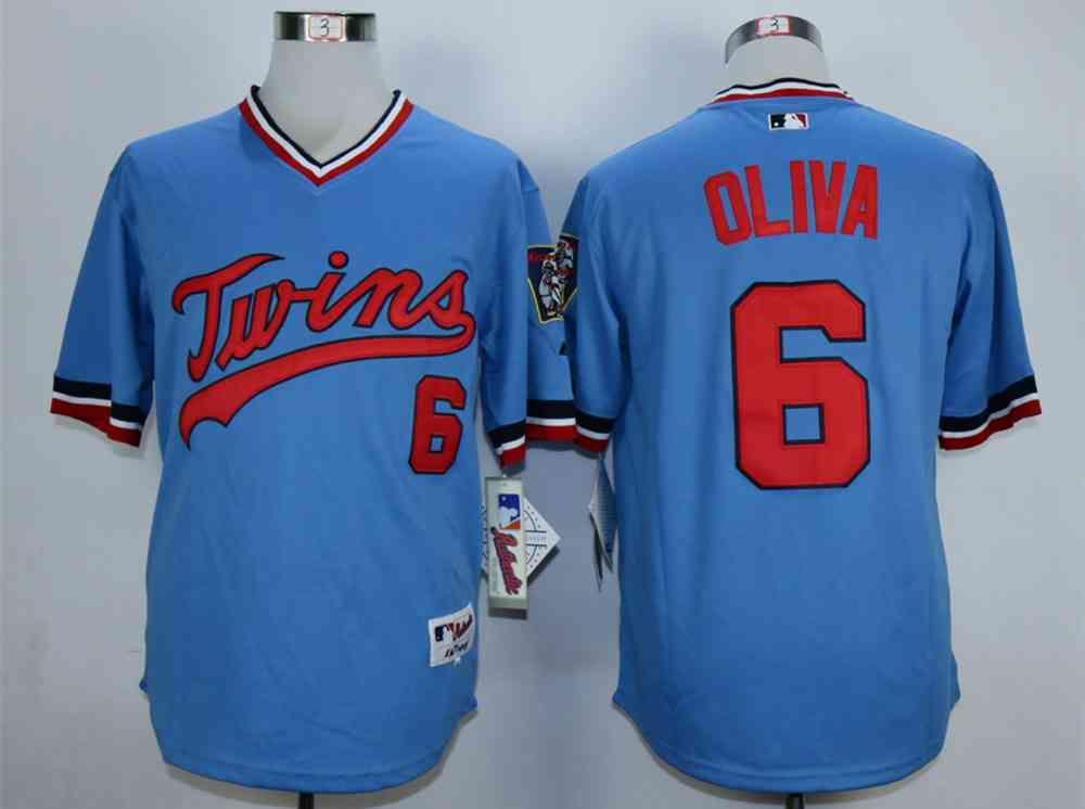 646b90f6f83 ... Jersey Mens Minnesota Twins 6 Tony Oliva Blue Cooperstown Jerse . ...